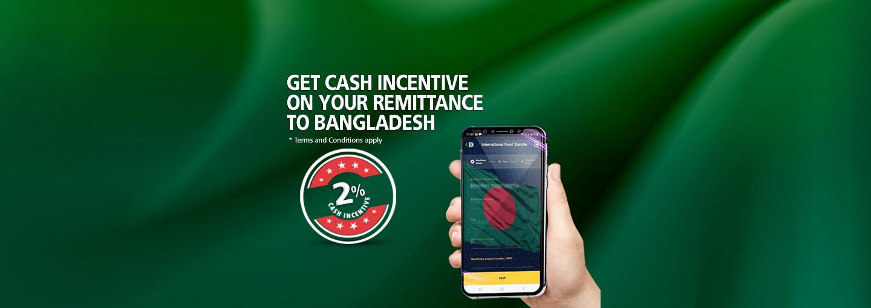 Cash Incentive on Remittance to Bangladesh