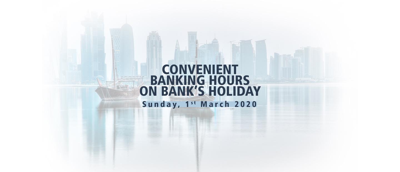 Bank's Holiday Timings