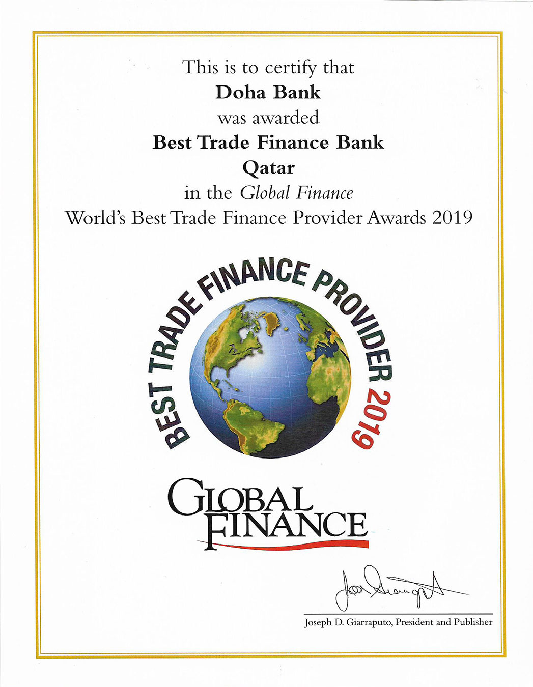 Best Trade Finance Bank