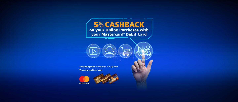 Debit Card Cashback Offer