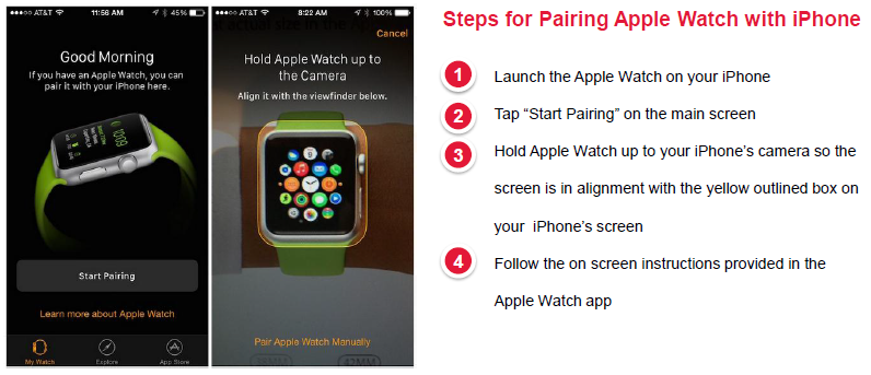 Pairing Apple Watch