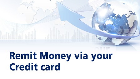 e-remittance on credit cards