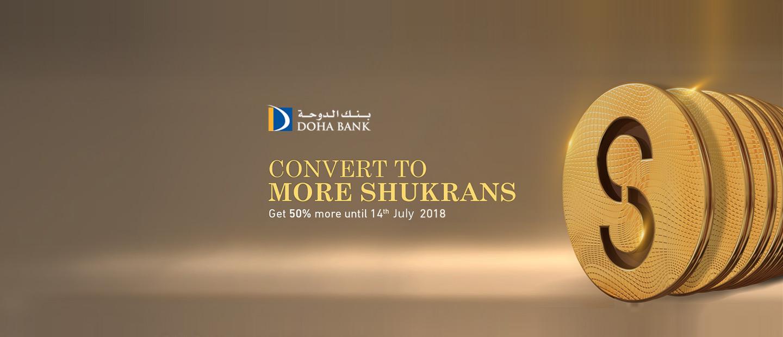 Convert to more Shukrans