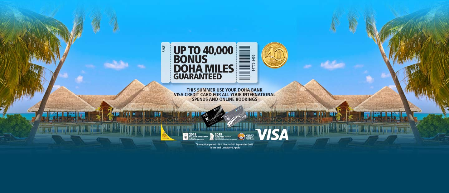 UP TO 40,000 BONUS DOHA MILES GUARANTEED